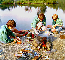 Image result for scouts cooking outdoors