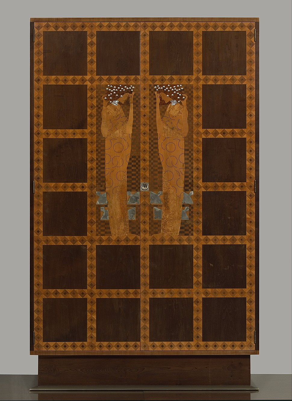 Koloman Moser - Inlaid Armoire from the Eisler-Terramare Apartment Bedroom - Google Art Project