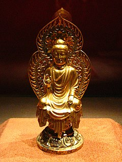 Korea-United Silla-Golden seated Buddha-01