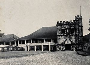 The Astana, Sarawak - Image: Kuching, Sarawak; the Astana, a partly castellated building. Wellcome V0037394