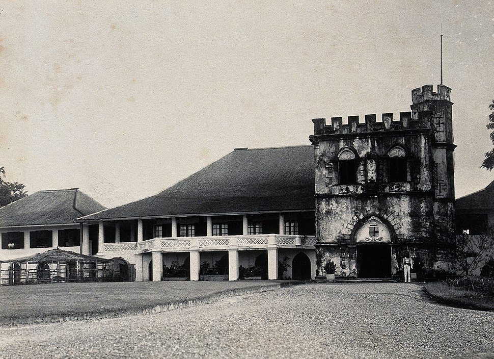 Kuching, Sarawak; the Astana, a partly castellated building. Wellcome V0037394