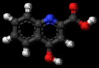 Pilk-kaj-bastona modelo de kinurena acido