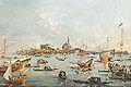 L'église et le pont de San Nicolo au XVIIIè siècle (Lido de Venise) (10138230544).jpg