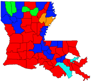 Louisiana gubernatorial election, 1995 - Image: LA Gov Election Oct 95