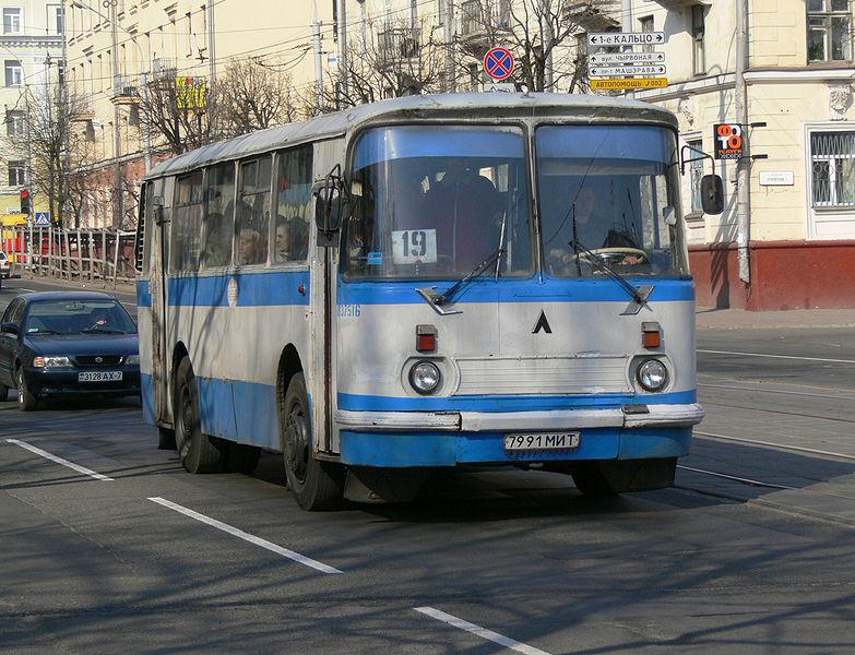 Файл:LAZ-695 bus in Minsk 01.jpg
