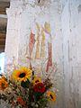La Celle-Condé Église Saint-Denis Fresque sur mur triomphal.jpg
