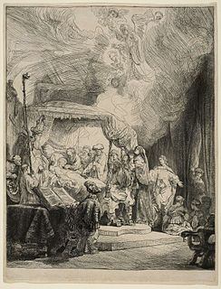 <i>The Death of the Virgin</i> (Rembrandt) drawing by Rembrandt