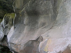 Guanches - Guanche rock carvings in La Palma