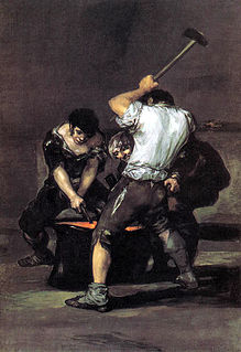 <i>The Forge</i> (Goya) painting by Francisco de Goya