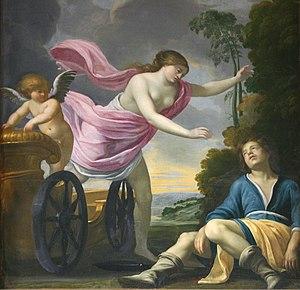 Jean Monier - La mort d'Adonis, painted by Jean Monier, from château de Cheverny.