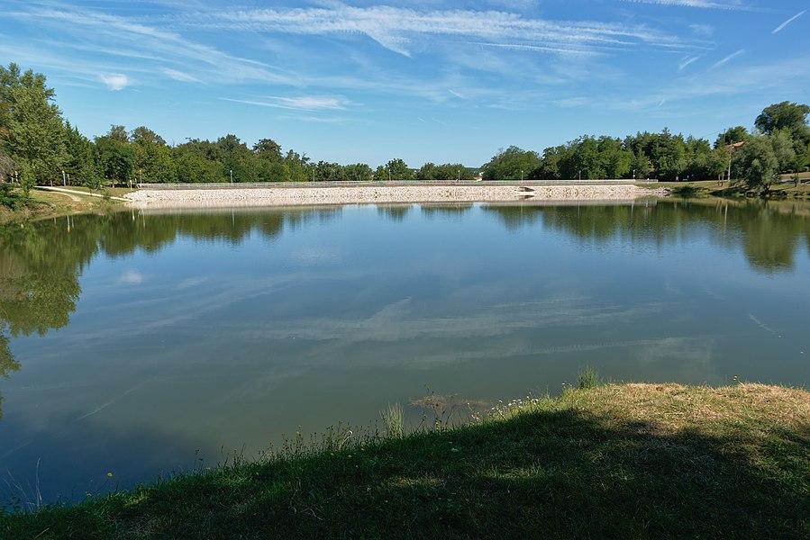 Barrage du lac de Flourens.