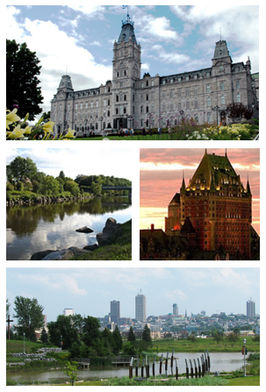Een collage van Quebec