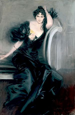 Gertrude Elizabeth Blood - Lady Colin Campbell (1897) by Giovanni Boldini