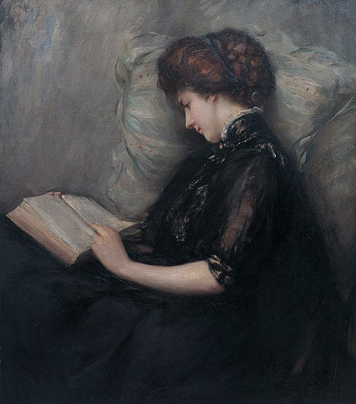 Lady Reading Poetry by Ishibashi Kazunori (Shimane Art Museum)