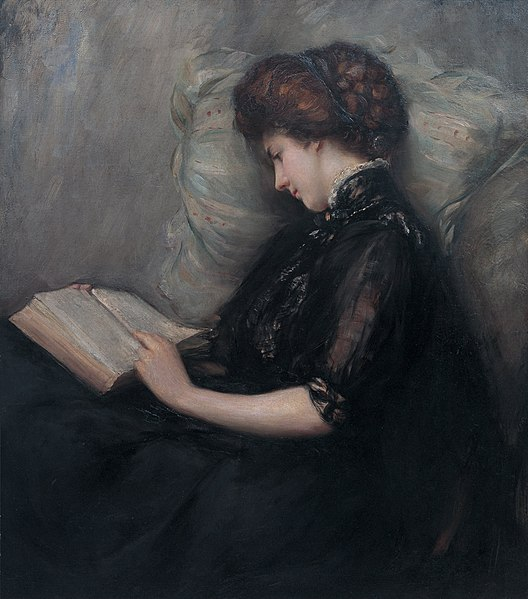 File:Lady Reading Poetry by Ishibashi Kazunori (Shimane Art Museum).jpg