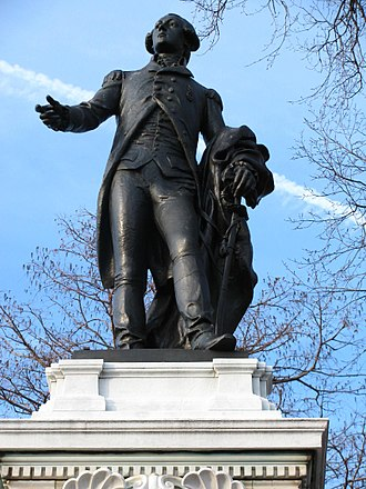 Major General Marquis Gilbert de Lafayette - Monument sculpture by Alexandre Falguiere