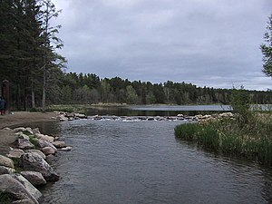 Itasca State Park - The source of the Mississippi River at the north end of Lake Itasca