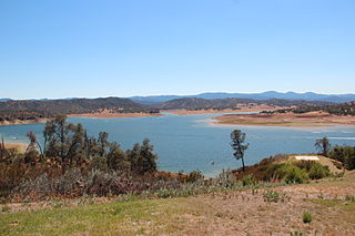 Lake Nacimiento lake in California