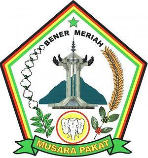 Bener Meriah Regency - Image: Lambang Kabupaten Bener Meriah