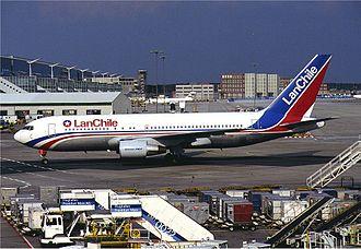 LATAM Chile - Lan Chile's Boeing 767 at Frankfurt (1994)