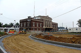 Lancaster station (Pennsylvania) - Lancaster station during the renovations, September 2011