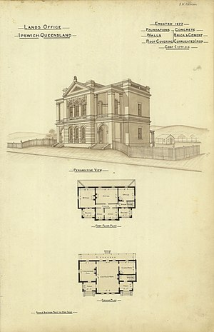 Ipswich, Queensland - Lands Office, erected 1877