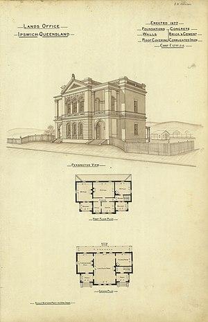Ipswich, Queensland - Lands Office, erected 1877