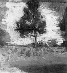 Landscape Study: Cultivated Field and Tree