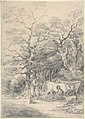 Landscape with cattle and figures; sketch for the Rustic Courtship MET DP804203.jpg