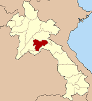 Special Zone of Xaisomboun - Map of Laos highlighting the province