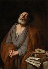 Saint Peter weeping