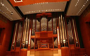 Morton H. Meyerson Symphony Center - Image: Lay family organ