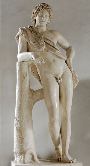 Hermes and the Infant Dionysus - The Resting Satyr, Roman copy of another work attributed to Praxiteles, Capitoline Museums
