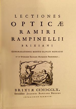 Ramiro Rampinelli - Frontispiece of Rampinelli's Lectiones opticæ
