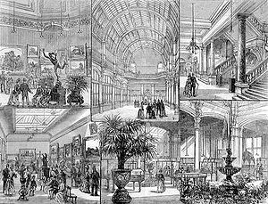 Leeds Art Gallery - Opening of Leeds City Art Gallery in 1888 from The Illustrated London News