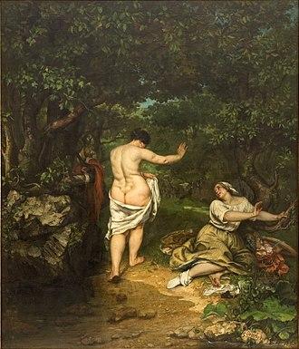 The Bathers (Courbet) - Image: Les Baigneuses Courbet