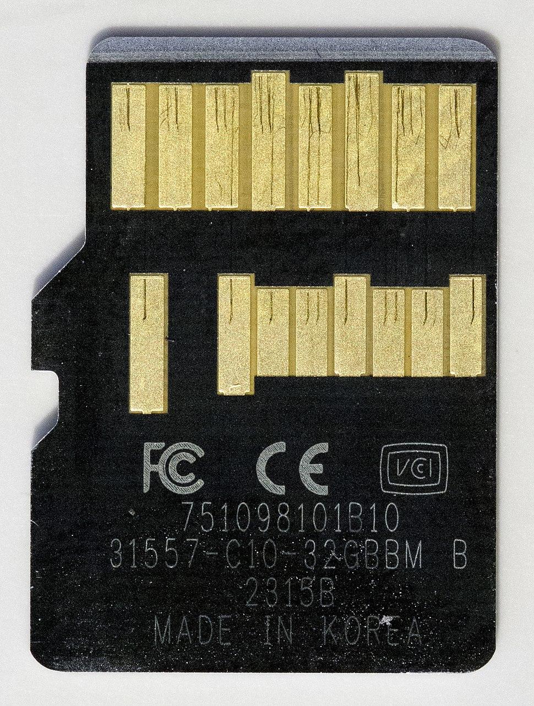 Lexar 1000x MicroSDHC UHS-II U3 Class 10 - Back
