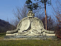 Lilienfeld - Schloss Berghof - Steinplastik Wappen.jpg