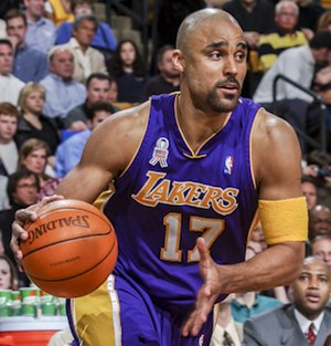 Rick Fox - Rick Fox with Los Angeles Lakers