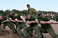 Lithuanian soldiers compete in tug of war during a cultural day in Pabrade, Lithuania, June 8, 2013, during exercise Saber Strike 2013 130608-A-HW973-003.jpg
