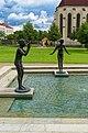 Litomyšl - Statues by Olbram Zoubek - View SSE.jpg