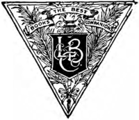 "Triangular logo bearing the initials, ""L, B & Co."" and the subtitle, ""Books, the best companions"