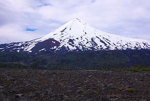 Llaima - The snowy cone of Llaima volcano