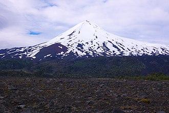Llaima - The snowy cone of Llaima volcano