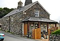 Llanfachreth Cottage bear church with circular pillars.JPG