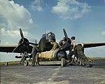 Loading 4000 lb Cookie on RCAF Wellington May 1942 IWM TR 11.jpg