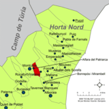 Localització d'Alfara del Patriarca respecte de l'Horta Nord.png