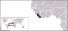 リベリアの位置
