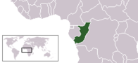 A map showing the location of Republic of the Congo