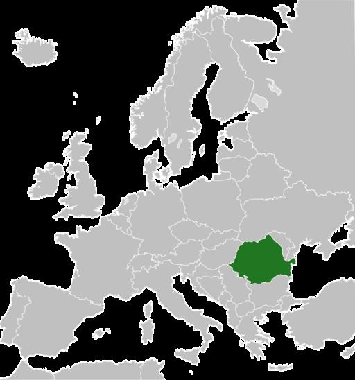Lage von Rumänien in Europa